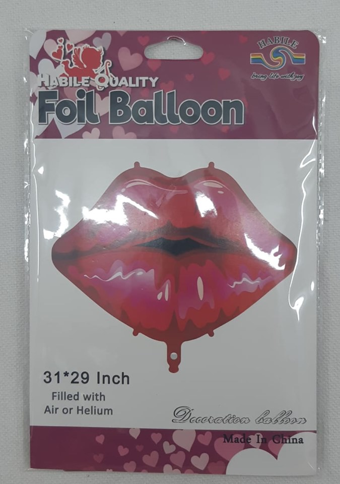 Foil Balloon Shape Red Lips 31 x29