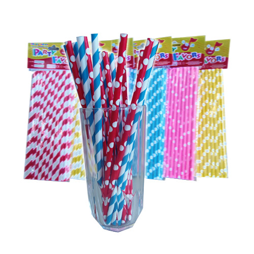 Paper Drinking Straw Dotted