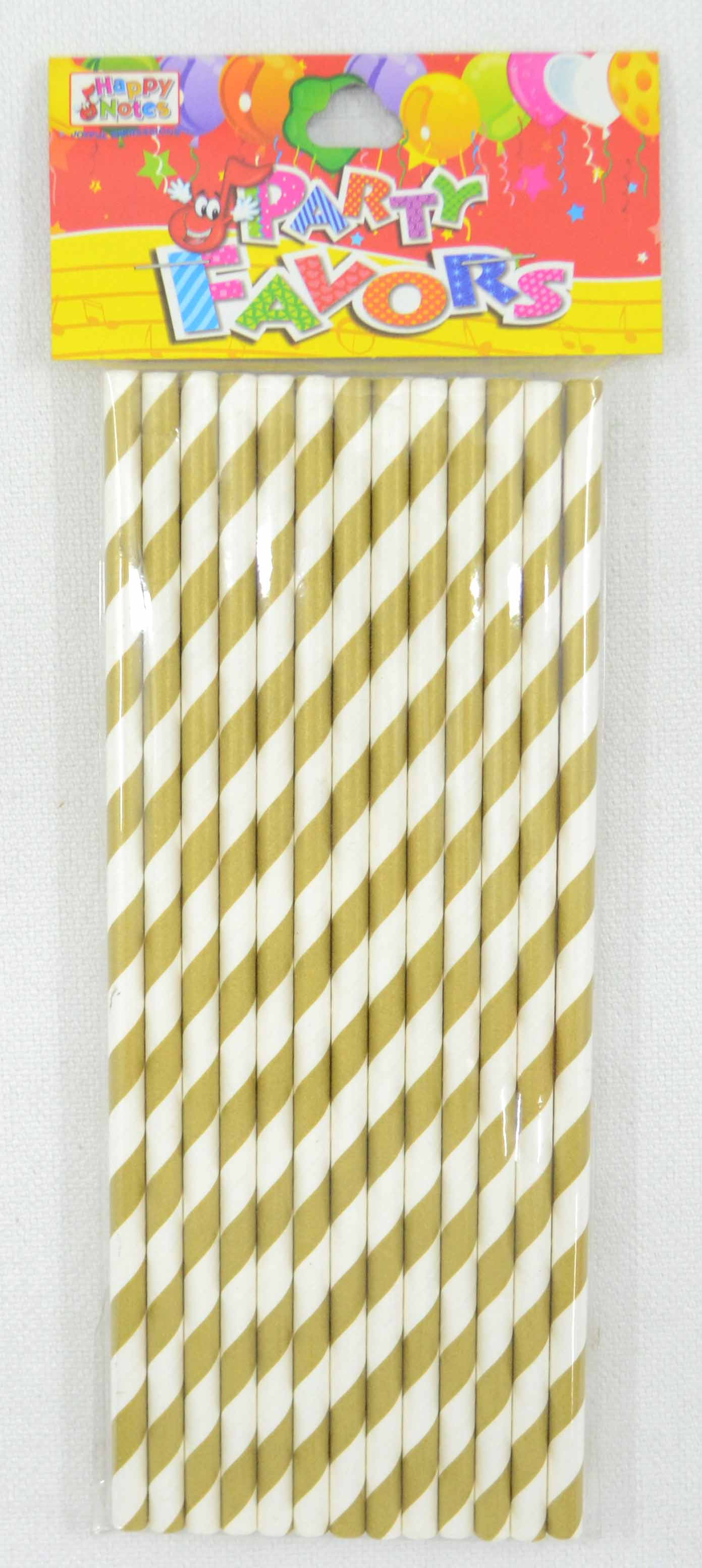 Paper Drinking Straw Metallic Colors